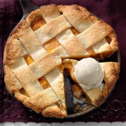 Do you thaw frozen peaches before making a pie?